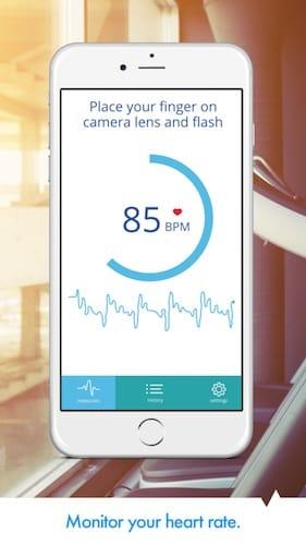 واجهة تطبيق Heart Rate PRO