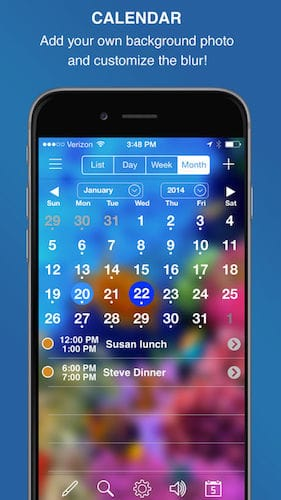 واجهة تطبيق InFocus Pro - All-in-One Organizer