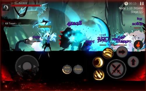 واجهة لعبة Shadow of Death: Stickman Fighting - Dark Knight