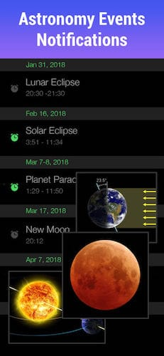 واجهة تطبيق Star Walk - Explore the Sky