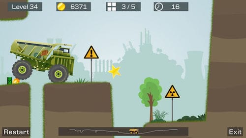 واجهة لعبة Big Truck -Mine Express Racing