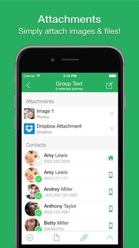 واجهة تطبيق Text 2 Group Pro