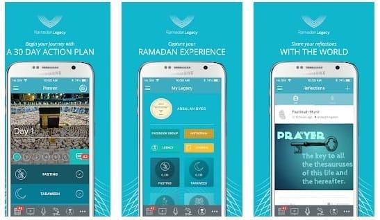 تطبيقات إسلامية أجنبية : تطبيق ramadan legacy